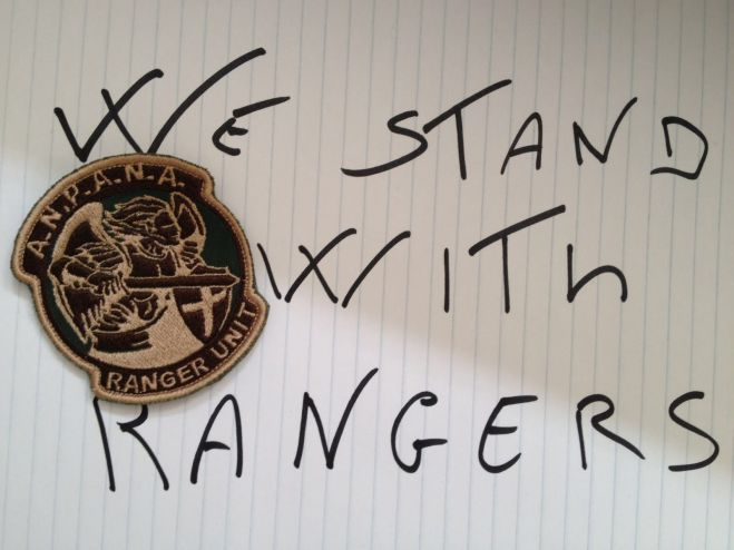 We stand with Rangers | #worldrangerday 2016
