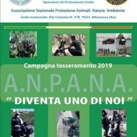 Campagna tesseramento A.N.P.A.N.A 2019