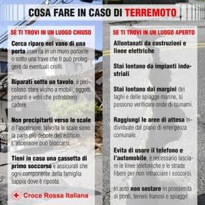 +++IN CASO DI TERREMOTO+++