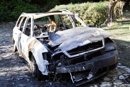 Parco Diecimare, trovate auto bruciate