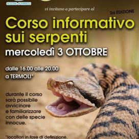 Termoli. Corso informativo sui serpenti