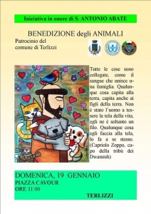 Domenica 19 Gennaio benedizione degli animali a Noicattaro e Terlizzi (BA)
